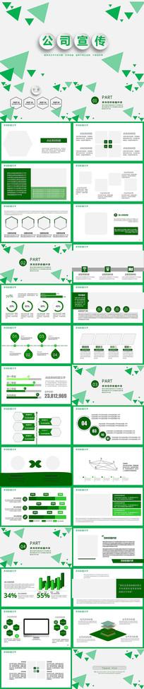 绿色时尚公司宣传PPT模板