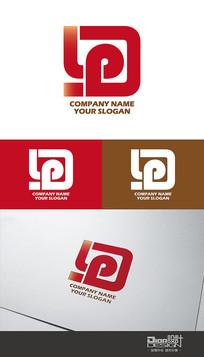 时尚大气D&P企业Logo设计