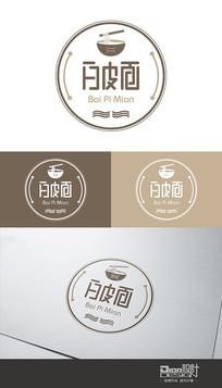 时尚大气白皮面Logo设计AI矢量图