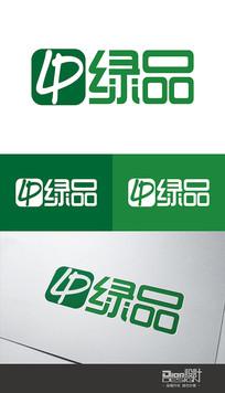 时尚大气绿品企业Logo设计AI矢量图