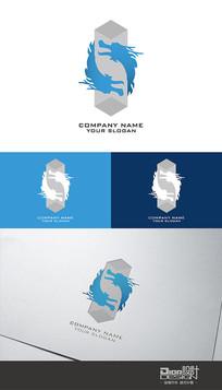 时尚大气双龙企业Logo设计AI矢量图