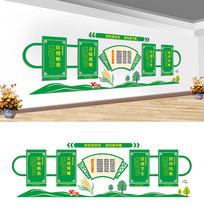 学校食堂文化墙设计