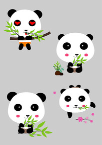 原创可爱卡通动物熊猫