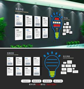 原创通用企业文化墙照片墙发展历程文化墙