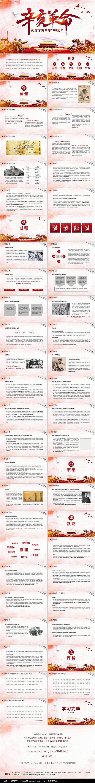 辛亥革命纪念PPT模板图片