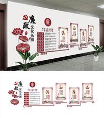 中国风荷花清正廉洁廉政文化墙