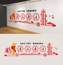 中国风廉政党建清正廉洁雕刻展板