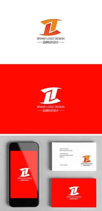 字母T科技电子电商网站标志