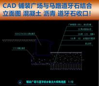 CAD马路牙子铺装施工图剖面图 dwg