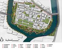 滨水景观设计平面psd PSD
