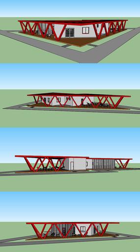 茶室建筑模型