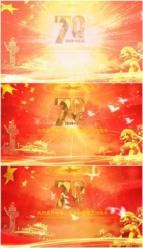 建国国庆70周年片头会声会影片头视频模板