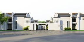 新中式展览馆设计模型