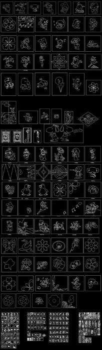 卡通动物CAD图库