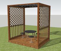 庭院廊架座椅