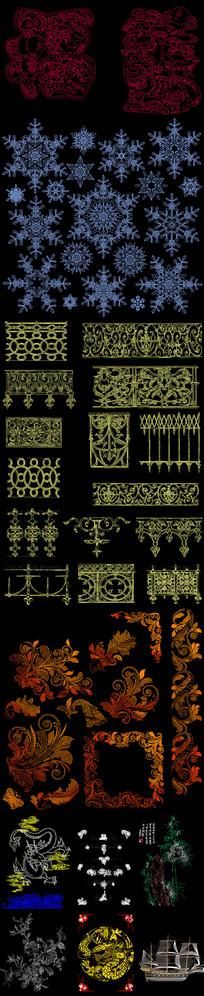 圖案花紋CAD圖庫