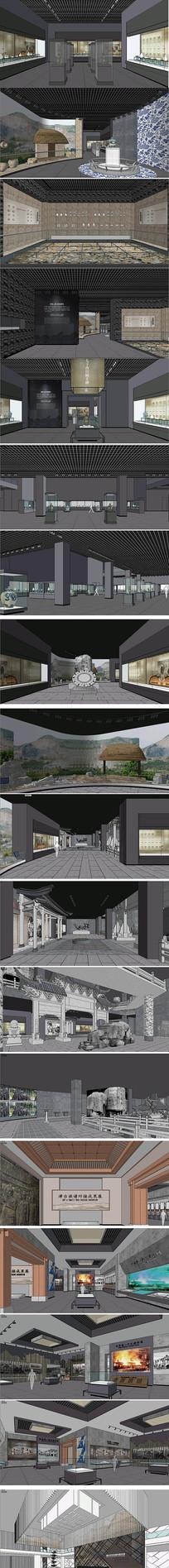 文化展馆模型