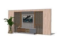 新中式客厅背景墙