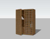 新中式木书架