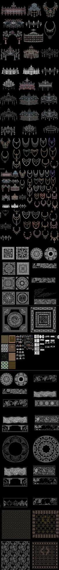新中式图案花纹CAD图库