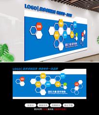 原创创意蓝色企业文化墙