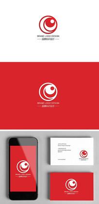 安防监控弱电工程天眼logo标志设计