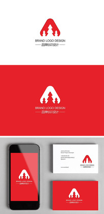 日用品家居产品创意森林logo标志设计