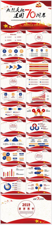 十一建国70周年庆会议总结报告ppt模板