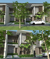 现代联排公寓 skp