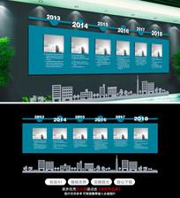 原创企业发展历程文化墙设计