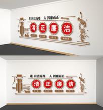 中国风党建文化墙廉政雕刻展板背景墙