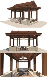 中式凉亭廊架