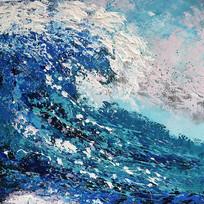 高清抽象艺术油画无框画 TIF