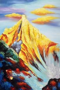高清立体欧式公园山水风景油画 TIF