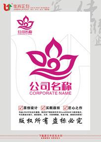 花朵美容连锁LOGO女性商标设计