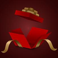原创喜庆红金色礼盒