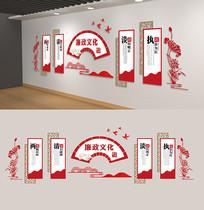 党建文化墙中国风廉政雕刻展板背景墙