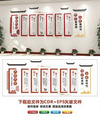 红大气新时代文明实践中心六传六习文化墙