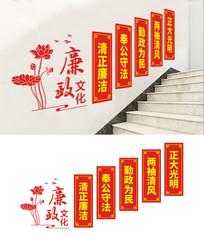 楼梯廉政文化建设展板设计