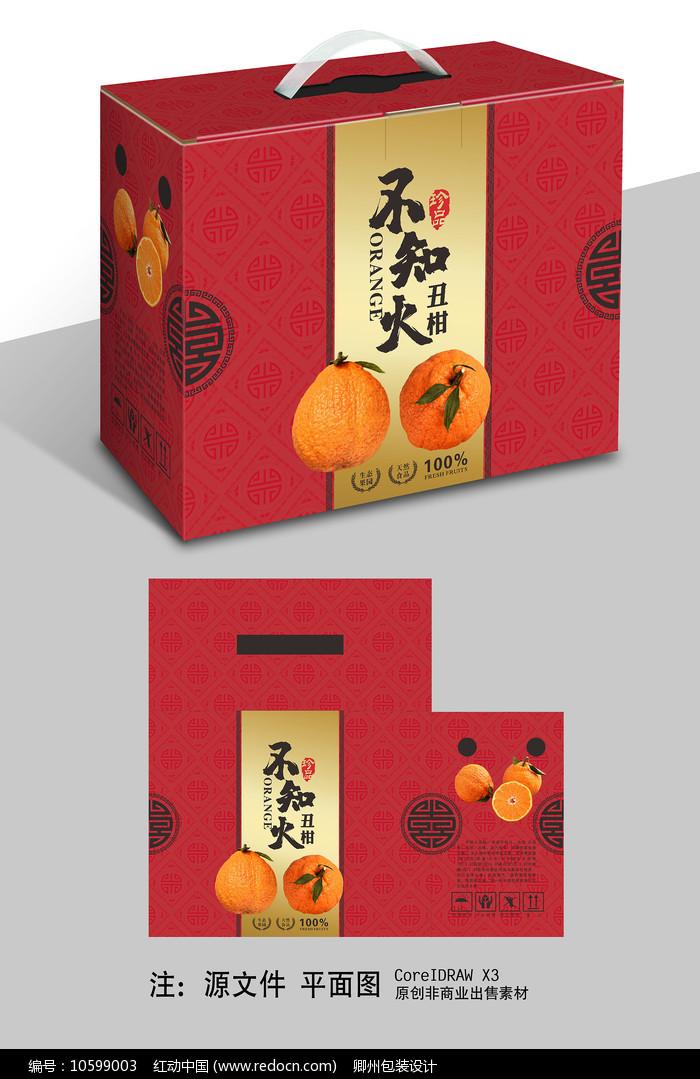 喜庆不知火礼盒包装设计图片