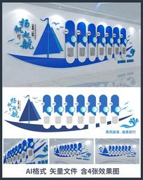 扬帆起航企业文化墙设计