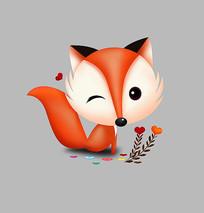 原創手繪可愛卡通狐貍