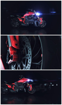震撼摩托组装logo视频模板