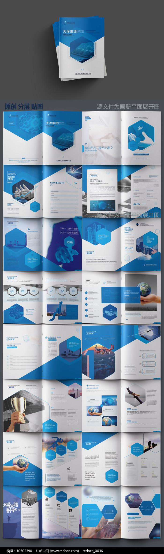 大气原创企业画册板式设计图片