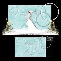 蒂芙尼蓝婚礼效果图设计大理石纹婚庆背景