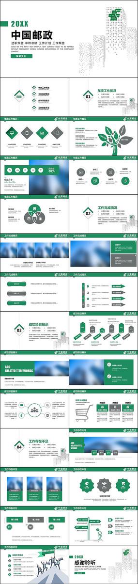 中国邮政储蓄银行工作总结计划PPT