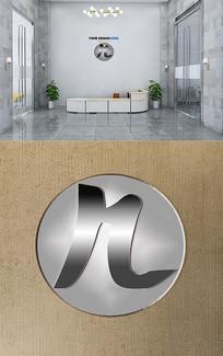 高端大气科技有限公司R字母LOGO设计