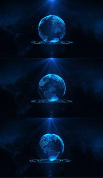 全息投影科技地球视频模板