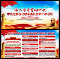 中共中央全面深化改革委员会展板设计