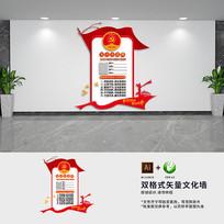 党员示范岗党建形象文化墙